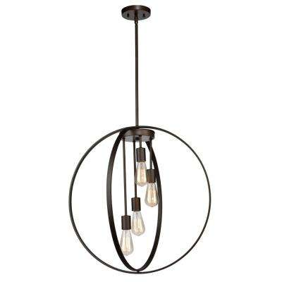 4-Light Oil Rubbed Bronze Chandelier