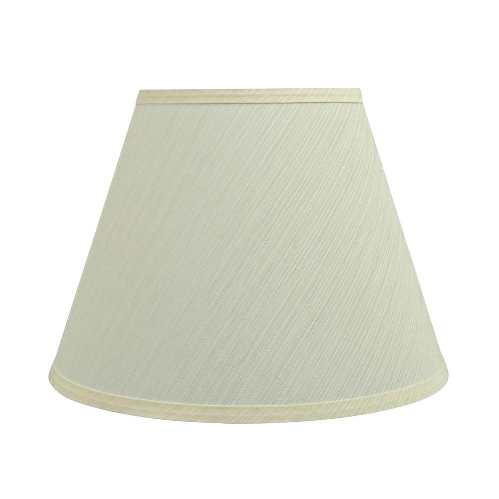 Aspen Creative Corporation 12 In X 9 In Eggshell Hardback Empire Lamp Shade 32623 The Home Depot