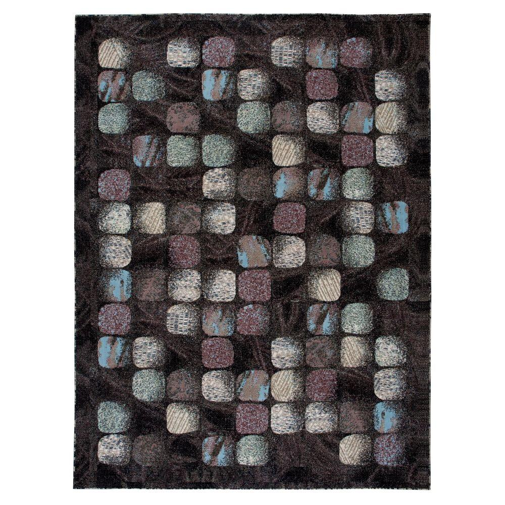 Nourison Overstock Modesto Cobblestone Charcoal 7 ft. 10 in. x 10 ft. 6 in. Area Rug