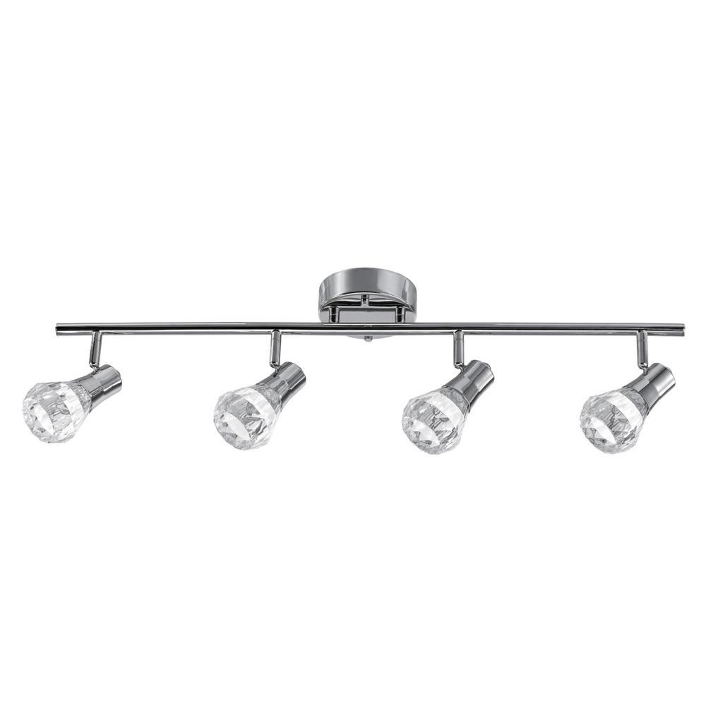Mia 2.5 ft. 4-Light Chrome Integrated LED Track Lighting Kit