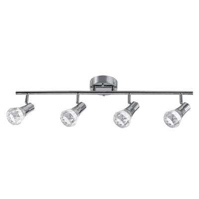 Mia 2.5 ft. 4-Light Chrome Integrated LED Track Lighting Kit