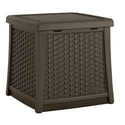 Elements Resin Outdoor Side Table With Storage