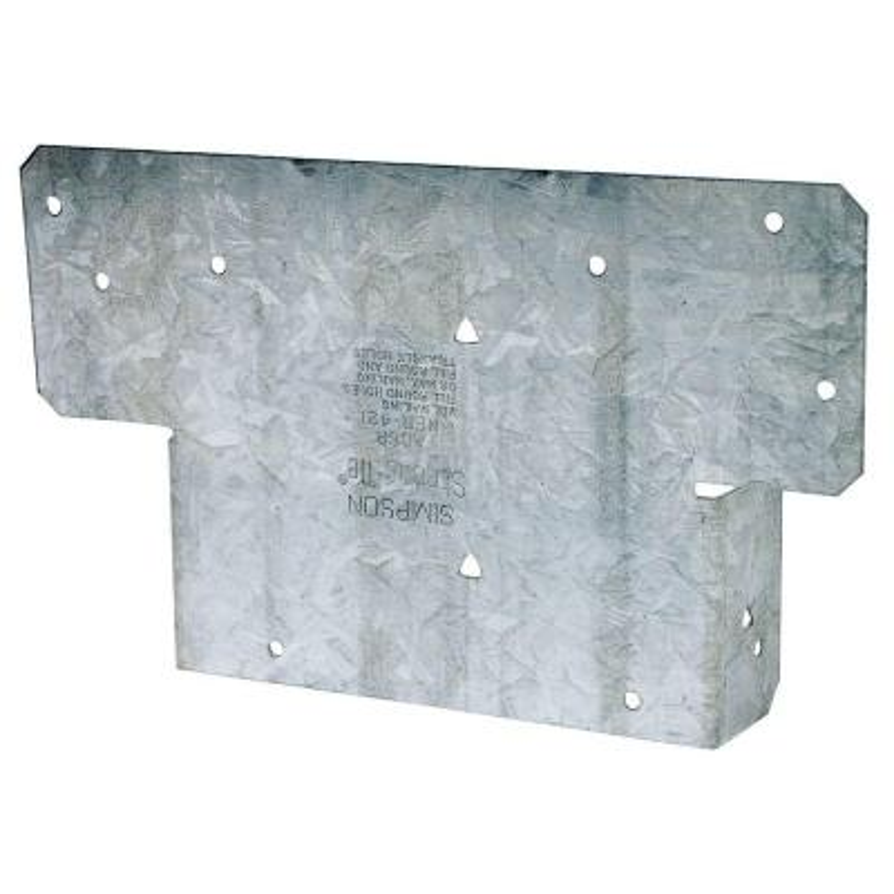 AC ZMAX Galvanized Adjustable Post Cap for 6x Rough Lumber