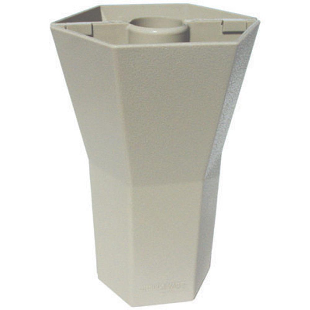 Brella Vase 10 in. Patio Umbrella Vase in Opaque Desert Sand-DISCONTINUED