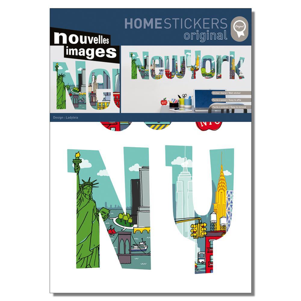 Multicolor New York Comics Home Sticker