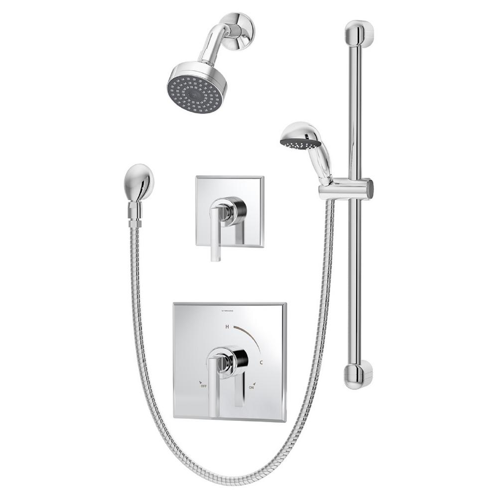 Symmons Duro 2-Handle 1-Spray Shower Faucet with Hand Shower in ...
