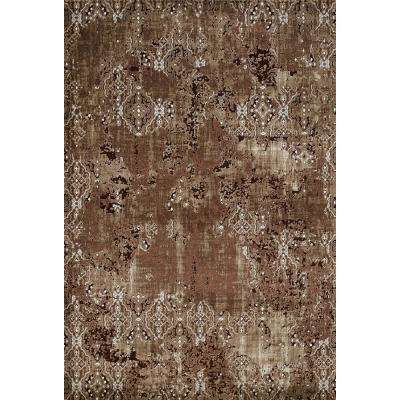 United Weavers Weathered Treasures Rarity Brown 1 ft. 10 in. x 7 ft. 2 in. Area Rug