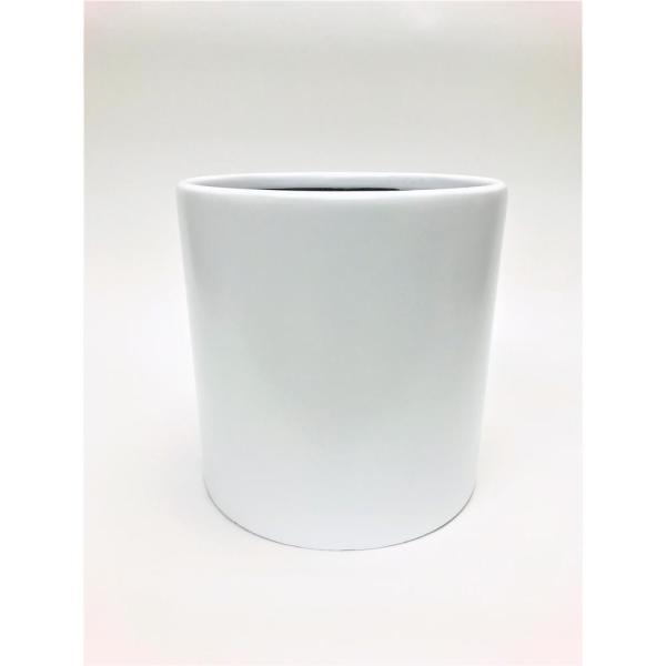 Silas 12 in. White Fiberglass Pot