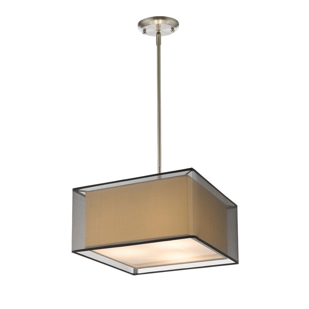 Nicolay 3-Light Brushed Nickel Pendant