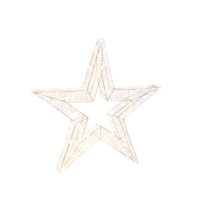 33 in. H Electric Open Wire Star Holiday Ornament