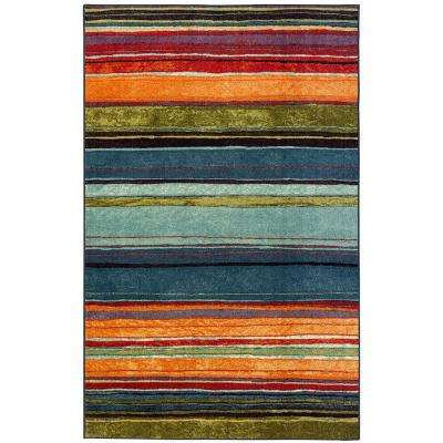 Rainbow Multi 7 ft. 6 in. x 7 ft. 6 in. Square Rug