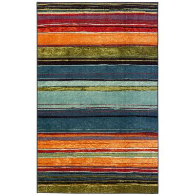Rainbow Multi 4 ft. x 6 ft. Area Rug