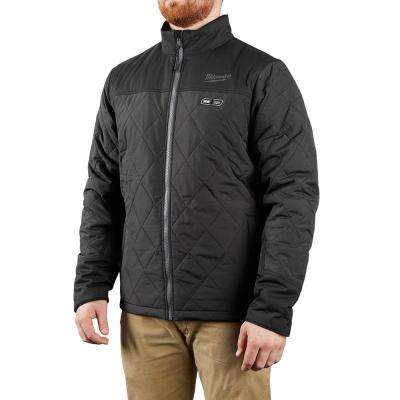 Men's X-Large M12 12-Volt Lithium-Ion Cordless AXIS Black Heated Quilted Jacket (Jacket Only)