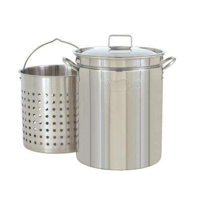 44 Qt. Stock Pot in Stainless Steel