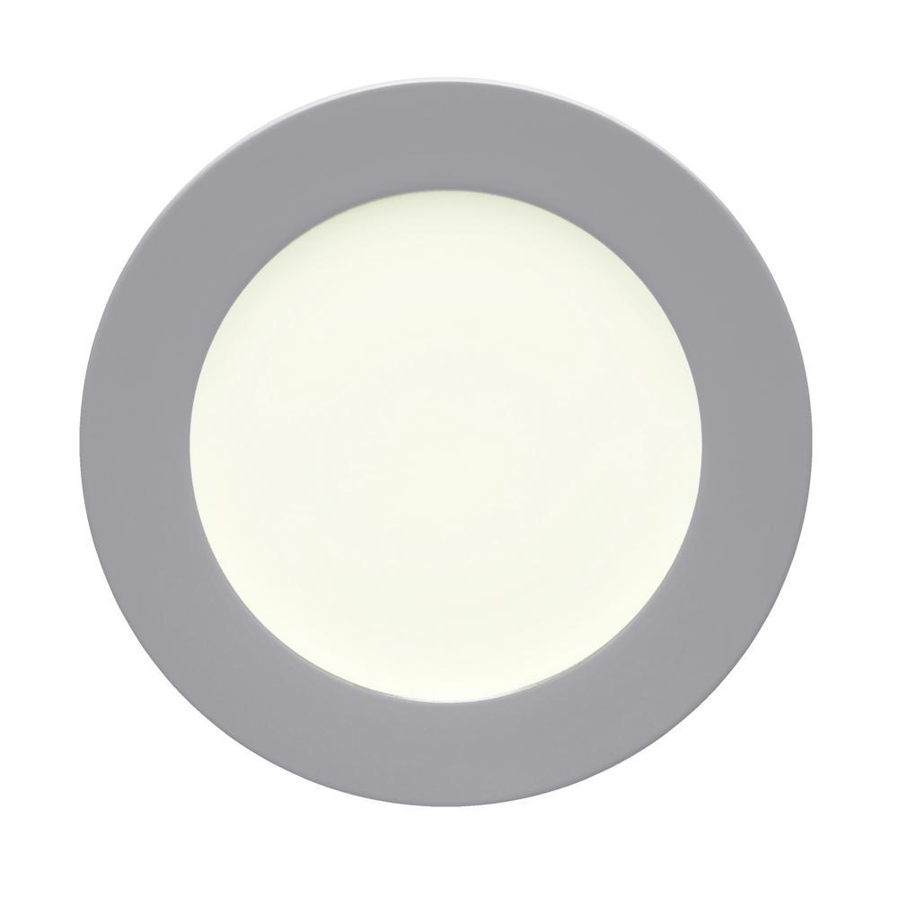 Colorwave 11 in. Slate Rim Dinner Plate