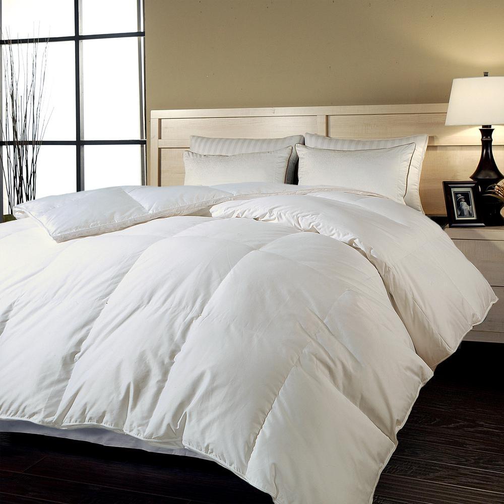 White Down Alternative 700 Thread CountCotton Sateen Twin Comforter