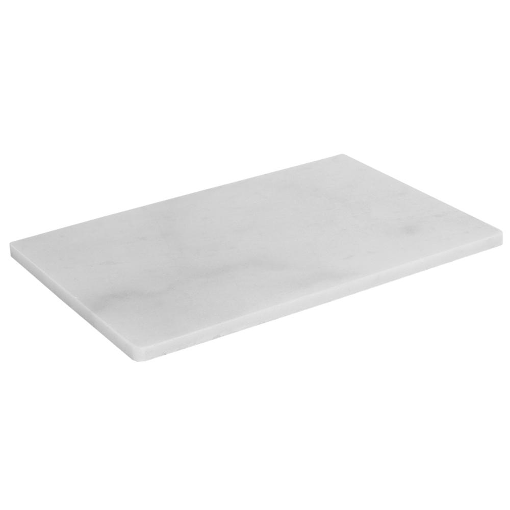 HOMEbasics Home Basics Marble Cutting Board, White
