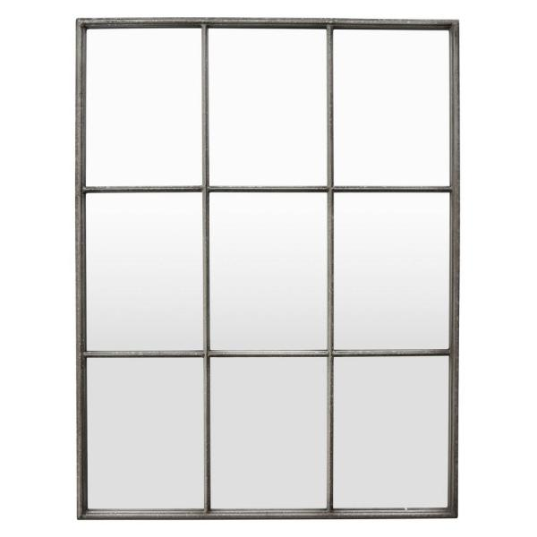 47 in. Silver Metal Wall Mirror Decoration
