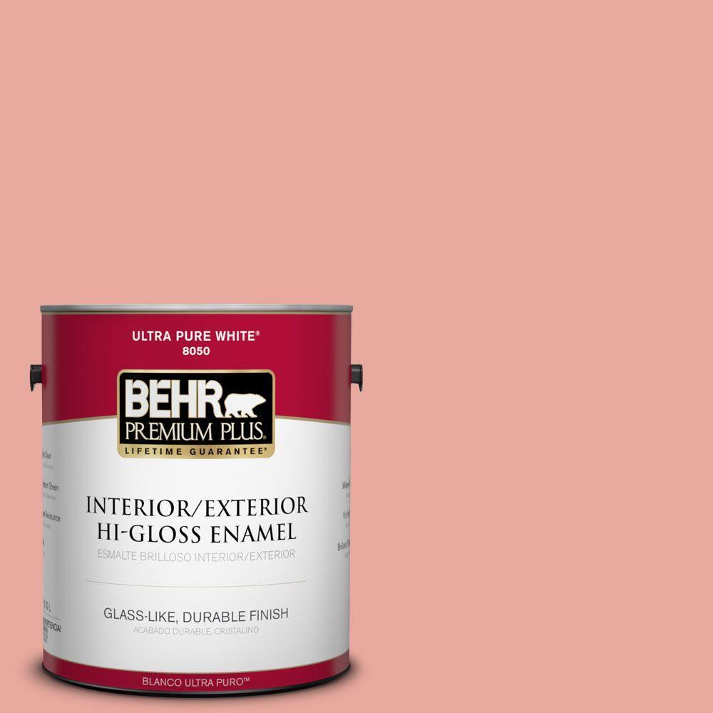 BEHR Premium Plus 1-gal. #M170-4 Passion Fruit Punch Hi-Gloss Enamel Interior/Exterior Paint