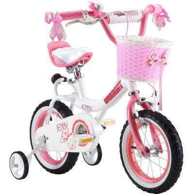 Jenny Princess Pink Girl's Bike with Training Wheels and basket, 12 in. Wheels