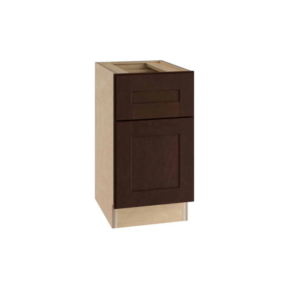 Home Decorators Collection Franklin Assembled 15x28.5x21 in. Single Door & Drawer Hinge Right Base Desk Cabinet in Manganite