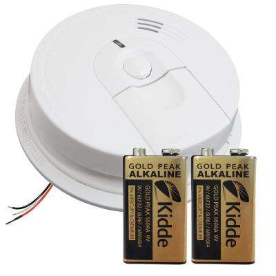 Hardwired Interconnectable Ionization Smoke Alarm/Battery Backup with 9-Volt Battery Pack Bundle