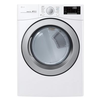 LG Electronics 7.4 cu.ft. Ultra Large Capacity Gas Dryer with Sensor Dry and Wi-Fi Connectivity in White