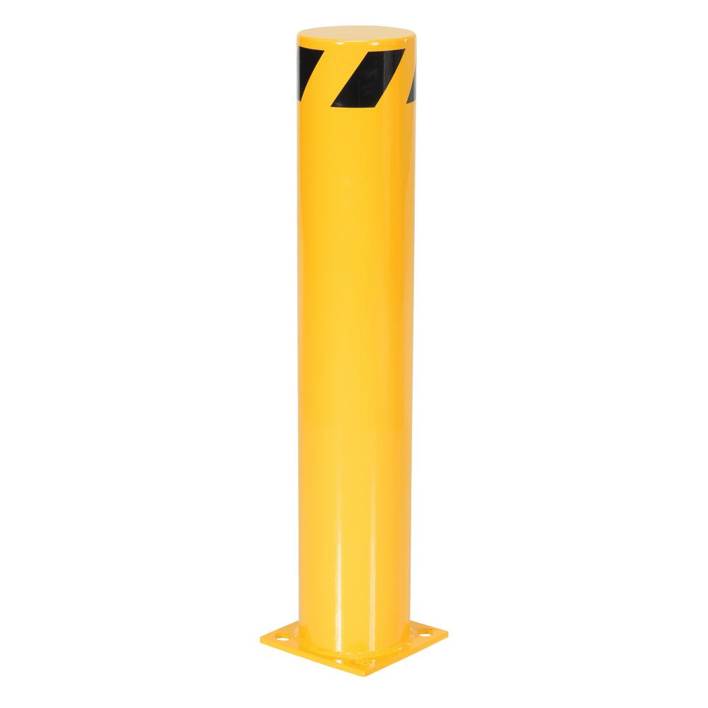 36 in. x 6.5 in. Yellow Steel Pipe Safety Bollard