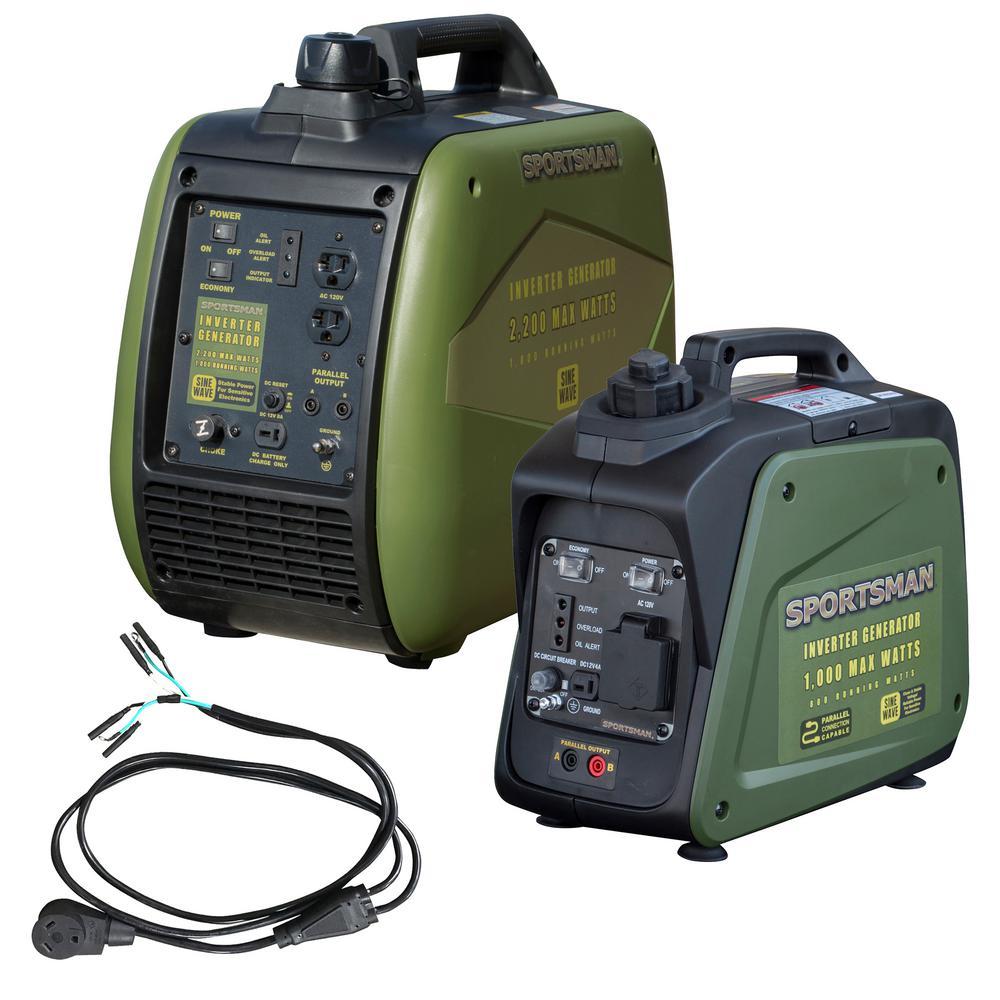 Sportsman 3,000-Watt/2,500-Watt Gasoline Powered Portable Inverter Generator Kit with Parallel Kit