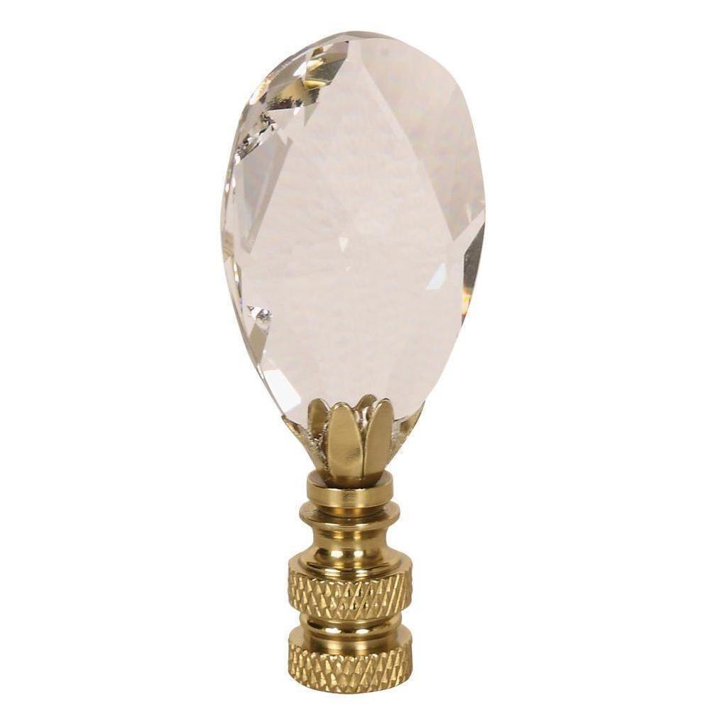 Tear Drop Shape Crystal Lamp Finial