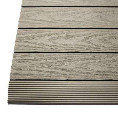 1/6 ft. x 1 ft. Quick Deck Composite Deck Tile Straight Trim in Egyptian Stone Gray (4-Pieces/box)