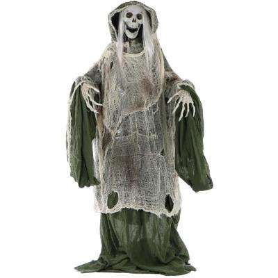 5 ft. Animatronic Moaning Skeleton Halloween Prop