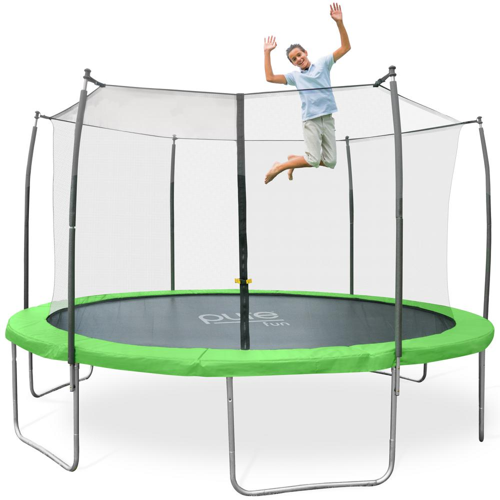 Pure Fun Dura Bounce 15 Ft Outdoor Trampoline Set 9315ts