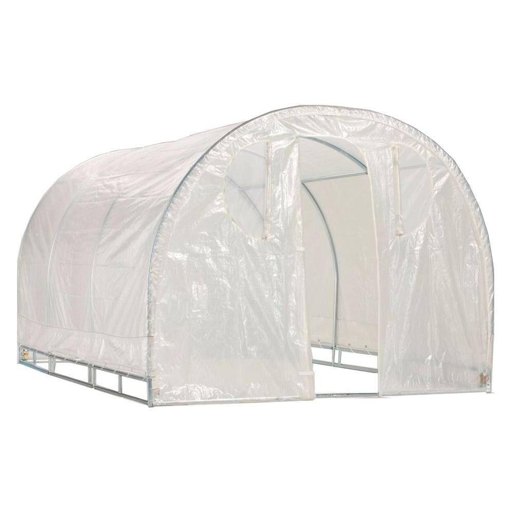 Weatherguard 6 ft. 6 in. H x 6 ft. W x 8 ft. L Round Top Greenhouse