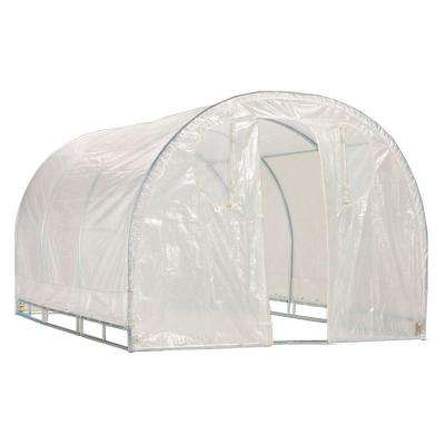 6 ft. 6 in. H x 8 ft. W x 12 ft. L Round Top Greenhouse