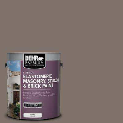 1 gal. #MS-86 Dusty Brown Elastomeric Masonry, Stucco and Brick Paint