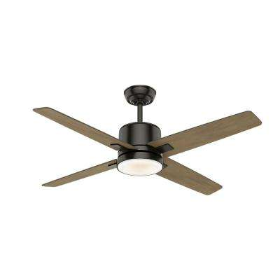 Axial 52 in. LED Indoor Noble Bronze Ceiling Fan