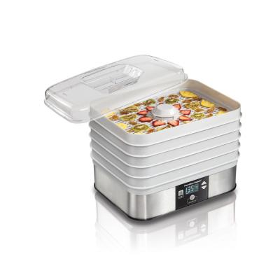 5-Tray Stainless Steel Food Dehydrator with Programmable Settings