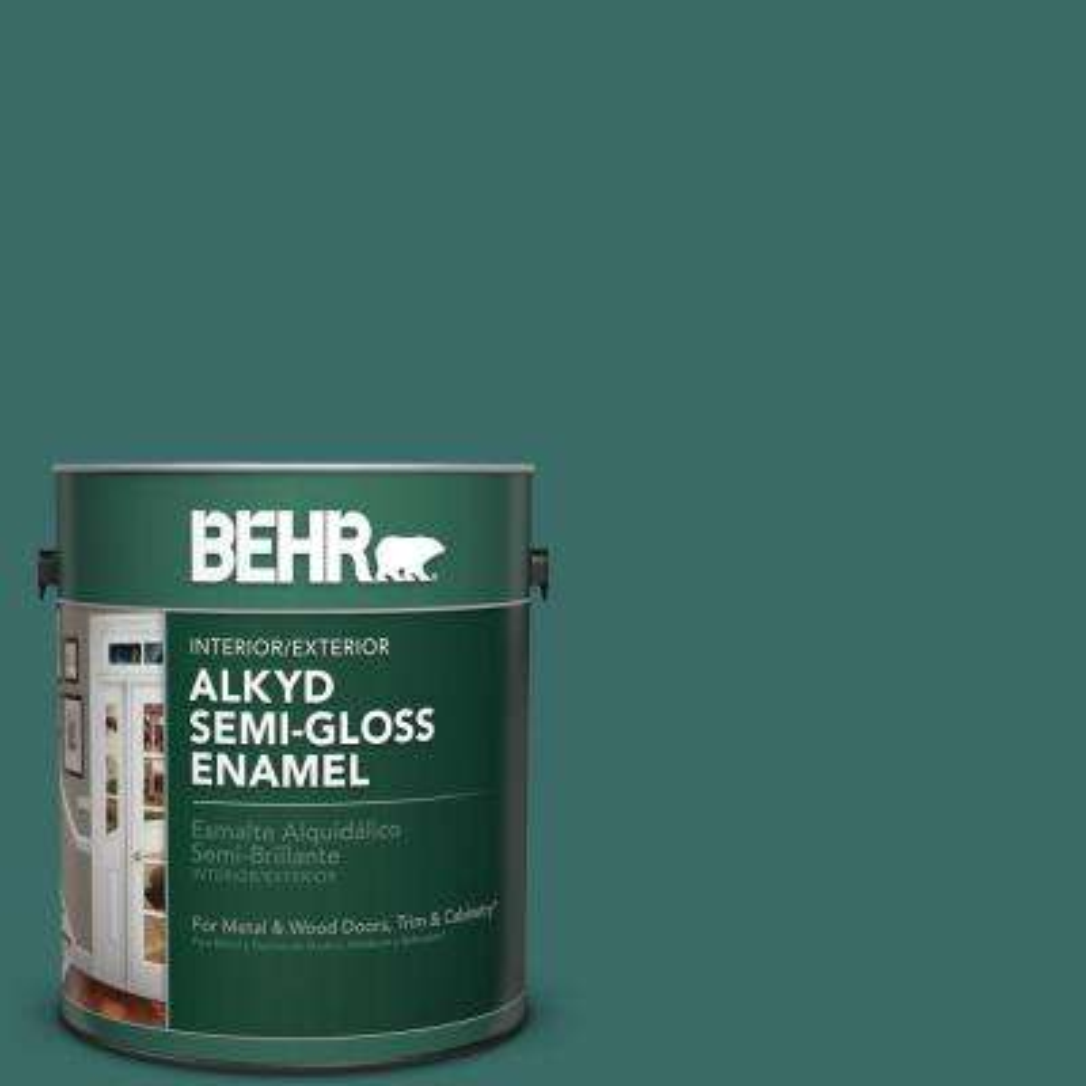 1 gal. #M450-7 Beta Fish Semi-Gloss Enamel Alkyd Interior/Exterior Paint
