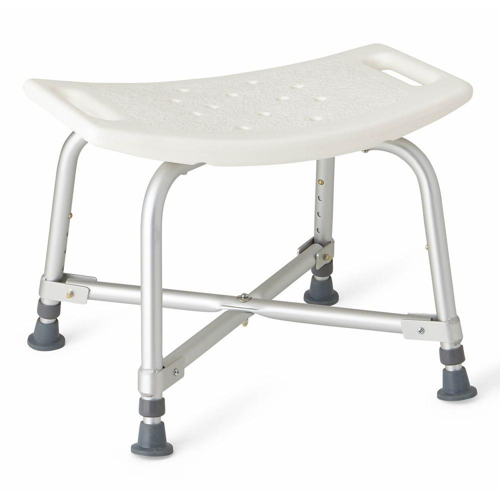Medline Bath Safety Bariatric Bath Bench in White-MDS89740AXW - The ...