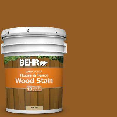 5 gal. #SC-134 Curry Solid Color House and Fence Exterior Wood Stain
