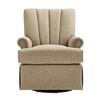 Toast Upholstered Swivel Glider