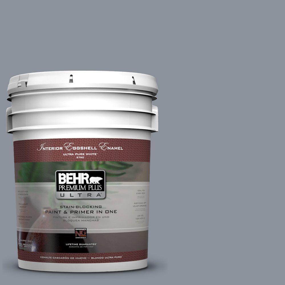 BEHR Premium Plus Ultra 5-gal. #PPF-28 Blue Dusk Eggshell Enamel Interior Paint