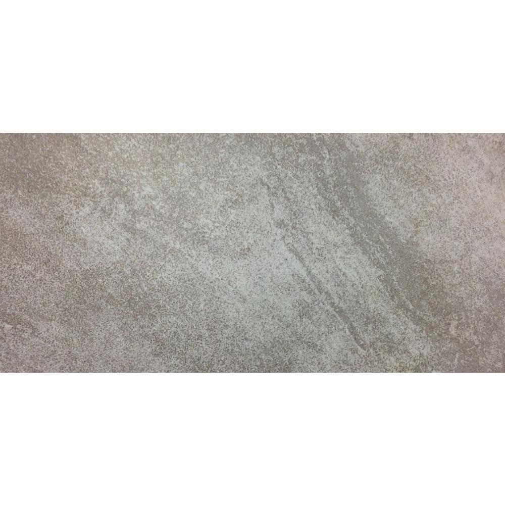TrafficMASTER Portland Stone Gray 12 in. x 24 in. Glazed Ceramic Floor and Wall Tile (15.01 sq. ft. / case)