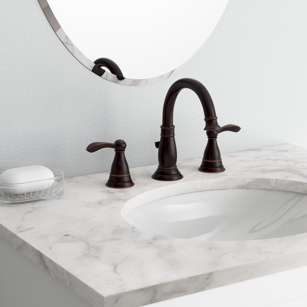 Delta Porter 8 In Widespread 2 Handle Bathroom Faucet In Oil Rubbed Bronze 35984lf Ob Eco The Home Depot