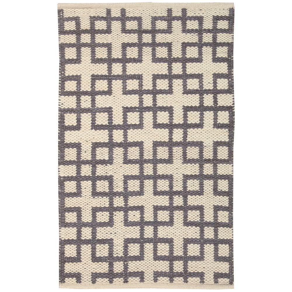 Maze Beige/Grey 2 ft. x 4 ft. Area Rug