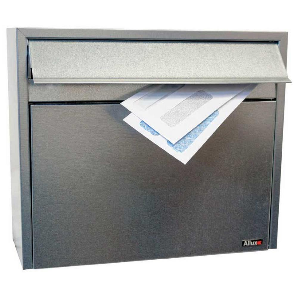 Allux LT150 Galvanized Wall Mount Locking Mailbox