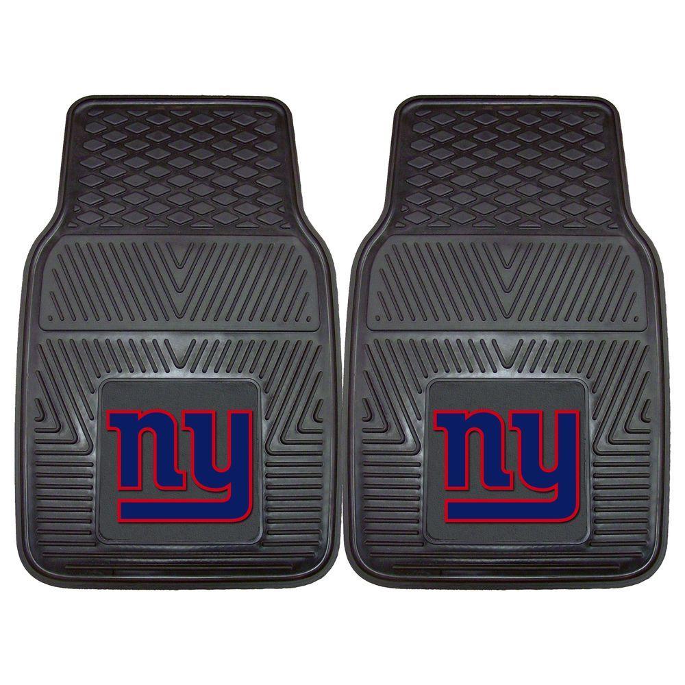 FANMATS New York Giants 18 in. x 27 in. 2-Piece Heavy Duty Vinyl Car Mat