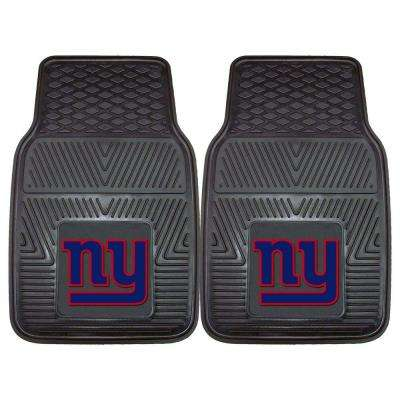 New York Giants 18 in. x 27 in. 2-Piece Heavy Duty Vinyl Car Mat