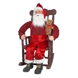 48 inch Rocking Chair Santa with Moving Mouth by